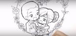 วาดลายเส้นการ์ตูน, การ์ตูนงานแต่ง wedding cartoon, การ์ตูนน่ารัก, presentation cartoon, วาดการ์ตูน