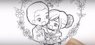 วาดลายเส้นการ์ตูน เรื่องราวความรัก อู๋ & กิ่ง 15 ตุลาคม 2559
