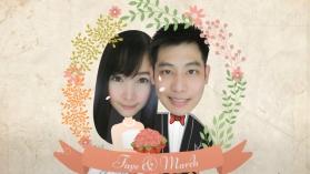 การ์ตูนงานแต่ง ฝ้าย ♥ มาร์ช 2 กรกฎาคม 2560 (ตัดหน้าคู่บ่าวสาวมาใส่)