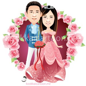 standing wedding cartoon 4