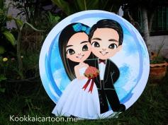 การ์ตูนงานแต่ง, การ์ตูนตั้งหน้างาน, wedding cartoon, การ์ตูนคู่บ่าวสาว, การ์ตูนน่ารัก, kookkaicartoon, bubble b variety, bubble b shop2U