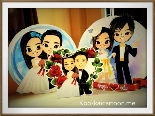 การ์ตูนงานแต่ง, การ์ตูนตั้งหน้างาน, wedding cartoon, การ์ตูนคู่บ่าวสาว, การ์ตูนน่ารัก, kookkaicartoon, bubble b variety, bubble b shop2U