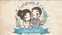 เรื่องราวการ์ตูนงานแต่ง เจี๊ยบ ♥ ต้อม 8 มกราคม 2560 (พากย์เสียง) แนวแอนิเมะ น่ารักๆ วาดหมดทุกฉาก