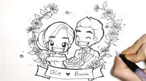 วาดลงผ่าน Clip, การ์ตูนงานแต่ง, wedding cartoon, prewedding cartoon, animation