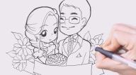วาดรูปการ์ตูนงานแต่ง, การ์ตูนงานแต่ง, สอนวาดรูปการ์ตูน, ช่างแบม, แบม ช่างสักลาย, รับทำการ์ตูนงานแต่ง,